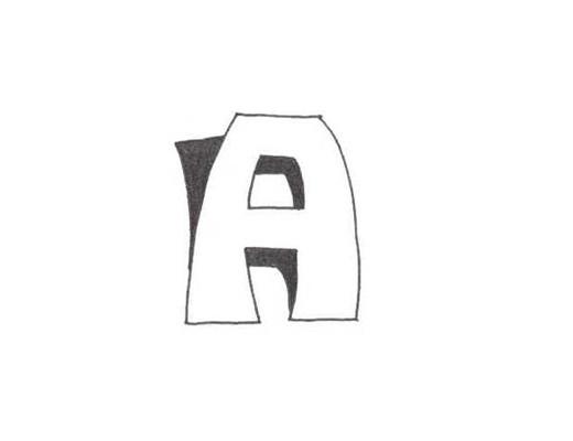 Урок 1.2. Буква «А» в 3D стиле падающей тени