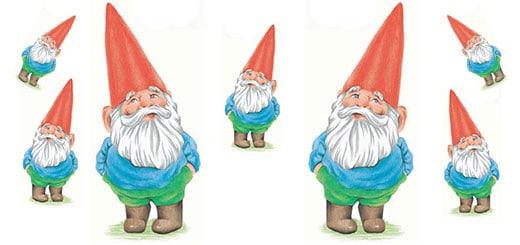 Курс рисования цветными карандашами. Садовый гномик