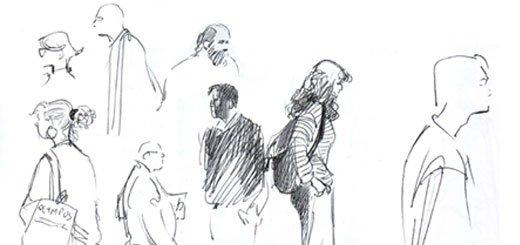 Как нарисовать человека? Урок 1. Учимся делать скетчи.