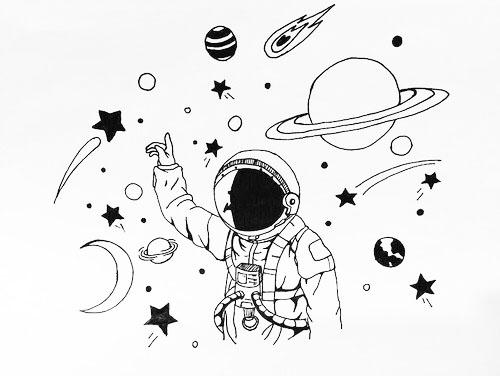 красивые рисунки про космос и космонавтов робот займ отзывы клиентов