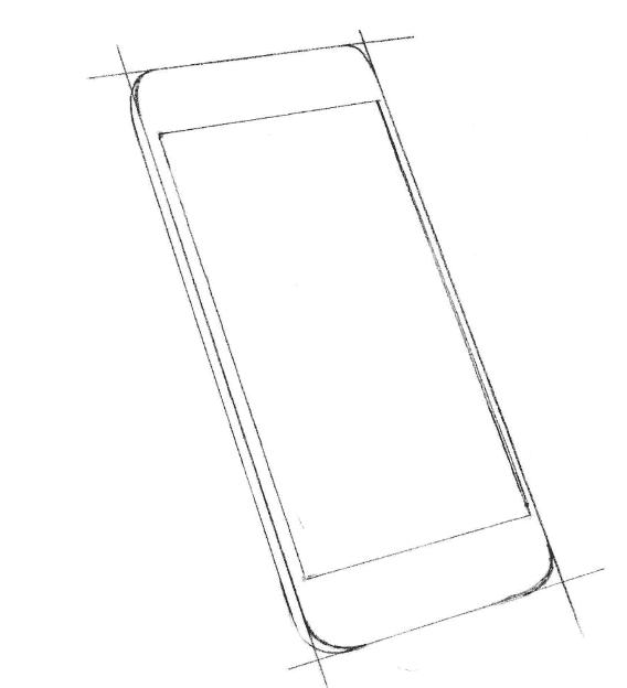 как нарисовать iPhone карандашом